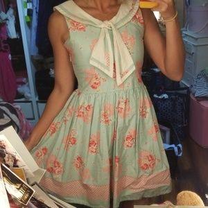 Bonne Chance Collections pink floral mint dress